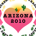 Susan G. Komen 3-Day for the Cure Arizona 2010 buttons