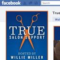 True Salon Support Facebook welcome tab design